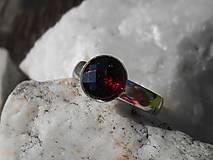 Prstene - garnet soul-ring-granát-prsteň-striebro - 13478766_
