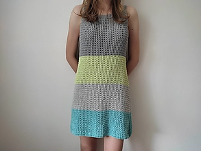 Šaty - Pletené letné šaty - 13481403_