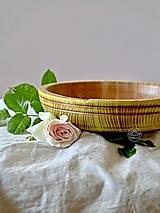 Nádoby - Drevená jaseňová miska žltá Ø21/4,5 - 13480872_