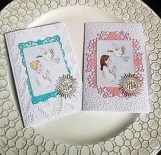 Papiernictvo - pohľadnice 1.sväté prijímanie pre dievčatko, chlapčeka - 13480962_