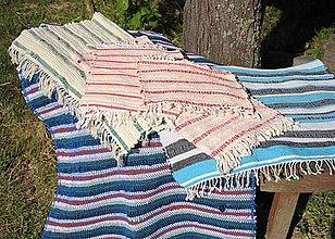 Úžitkový textil - Tkané babičkine koberce - 13480593_