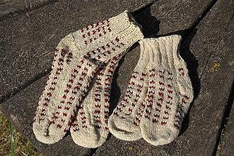 Iné oblečenie - Vlnené ponožky - 13480616_