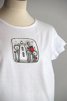 Tričká - tričko D o m č e k - 13480955_