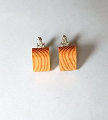 Šperky - Drevené manžetové gombíky - Smrekové - 13479993_