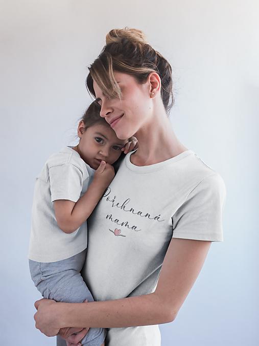 Topy, tričká, tielka - Požehnaná mama - 13479942_