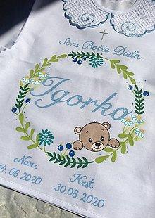 Detské oblečenie - Košielka na krst - s bylinkami a s mackom (aj bez) - 13481190_