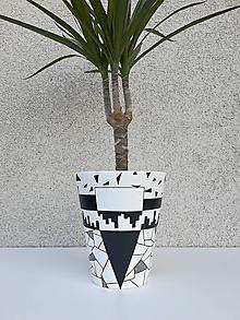 Nádoby - Keramický kvetináč ELETRY JR. - ručne maľovaný - 13480086_