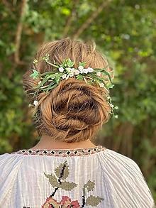 """Ozdoby do vlasov - Kvetinový hrebienok """"rosa nového rána"""" - 13480980_"""
