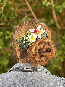 """Ozdoby do vlasov - Kvetinový hrebienok """"láska na brehu mora"""" - 13481003_"""
