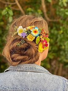 """Ozdoby do vlasov - Kvetinový hrebienok """"bláznivá letná láska"""" - 13481011_"""
