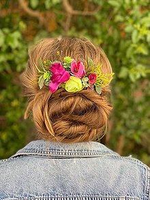 """Ozdoby do vlasov - Kvetinový hrebienok """"svieže letné ráno"""" - 13481018_"""