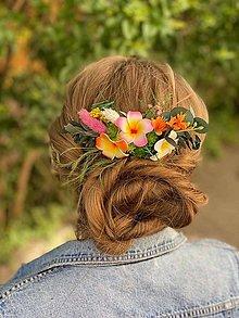 """Ozdoby do vlasov - Kvetinový hrebienok """"aloha"""" - 13481029_"""