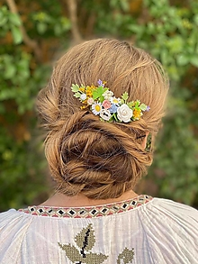 """Ozdoby do vlasov - Kvetinový hrebienok """"poézia slnka"""" - 13481054_"""