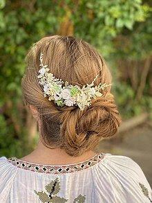 """Ozdoby do vlasov - Kvetinový hrebienok """"hmlisté ráno"""" - 13481102_"""