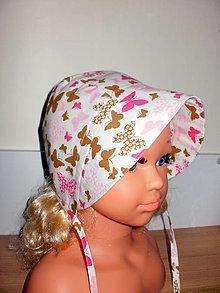 Detské čiapky - čepček- čiapočka motýliky - 13481731_
