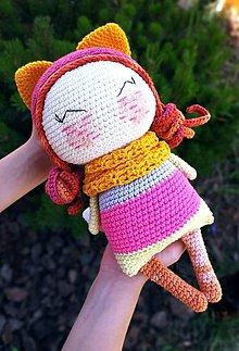 Hračky - Háčkovaná bábika Fox - 13480577_