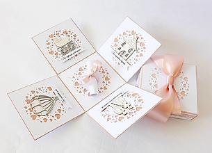 Krabičky - Exploding box - darčeková krabička svadobná - 13482657_