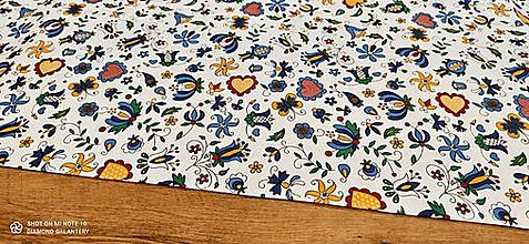 Textil - Bavlnená látka - Folk Mix - cena za 10 centimetrov - 13482226_