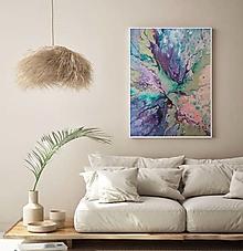 Obrazy - Fialový motýľ  67x54 - 13483994_