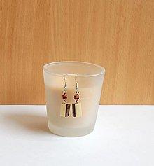 Náušnice - Visiace náušnice z dreva - Lieskové s kôrou - 13482406_