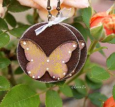 Náušnice - Motýle natur - 13483809_