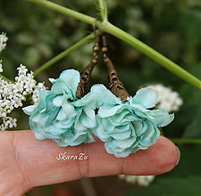 Náušnice - Kvetinečky - 13483894_