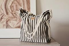 - Lina (ľanová taška) čierna - 13484725_