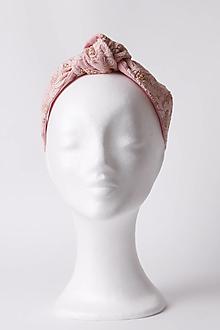 Ozdoby do vlasov - Čelenka s ružovou čipkou - 13486773_