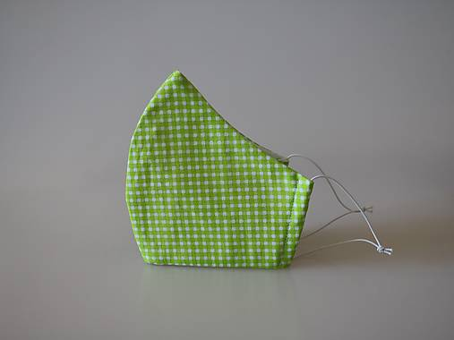 Dizajnové rúško káro zelené