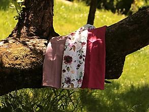 Úžitkový textil - Ľanové utierky 3 ks set romance - 13486807_