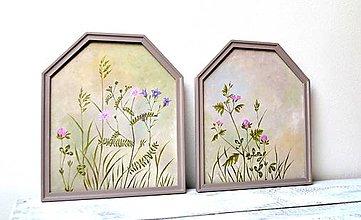 Obrazy - Maľované obrazy-sada-Letná neha - 13486483_