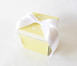Krabičky - Exploding box - darčeková krabička svadobná - 13484638_