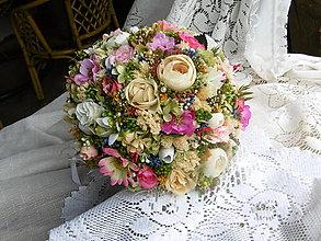 Dekorácie - Romantická kytica - 13486768_