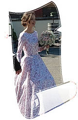 "Šaty - FLORAL FOLK "" Romantic Flower "", spoločenské dlhé šaty (dlhé šaty) - 13484674_"