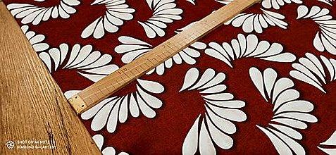 Textil - Bavlna režná - Vzor XXII - cena za 10 cm (Červená) - 13484586_