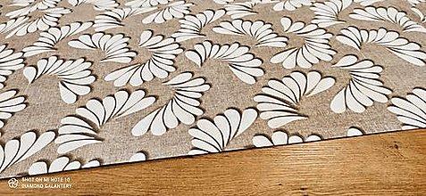 Textil - Bavlna režná - Vzor XXII - cena za 10 cm (Béžová) - 13484593_