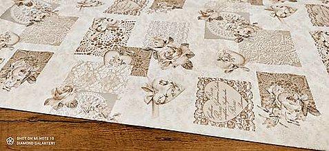 Textil - Bavlna režná - Rosa- Cena za 10 centimetrov - 13484750_