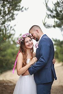 Ozdoby do vlasov - Romantický  svadobný set  (Venček) - 13487552_