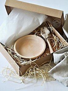 Obalový materiál - Darčekové balenie pre set taniera s lyžicou - 13485843_