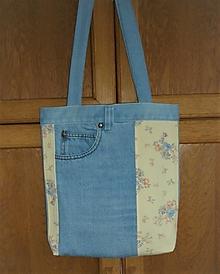 Nákupné tašky - Taška kombinovaná (Riflová taška 2) - 13486885_