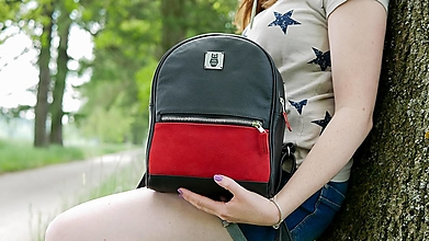 Batohy - Kožený městský batoh - Harry Red - 13486578_