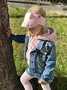 Detské doplnky - Čelenka do šiltom a mašľou - 13484817_