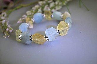 Náramky - citrín a akvamarín náramok luxusný - 13484985_