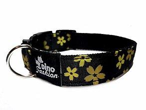 Pre zvieratká - Obojok Žlté kytičky - 13484712_