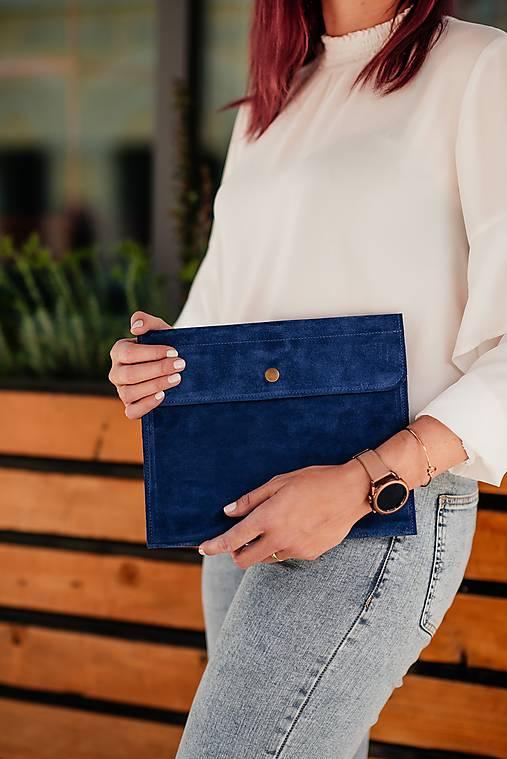 Obaly na tablet - Univerzálne puzdro na tablet a klávesnicu z brúsenej kože modré - 13485857_