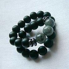 Šperky - Náramok labradorit a onyx - 13486561_