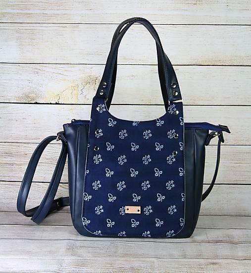 Modrotlačová kabelka Diana modrá