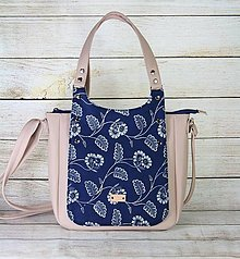 Kabelky - Modrotlačová kabelka Diana ružová - 13486308_