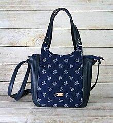 Kabelky - Modrotlačová kabelka Diana modrá - 13486322_