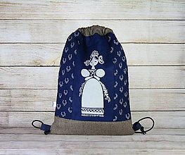 Batohy - modrotlačový batoh Libena 18 - 13486437_